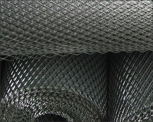 Galvanized carbon steel mesh expanded metal for diamond metal lathe production