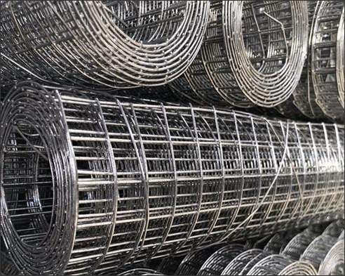 Welded steel mesh grid, square hole 5mmx5mm in roll size: 1000 mm x 100 m, galvanized finish